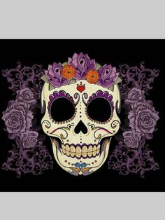 """""""Vintage Skull and Roses"""" iPhone & iPod Cases by Tammy Wetzel Crane, Coque Iphone 5c, Iphone 6, Vintage Style Tattoos, Skulls And Roses, Rose Art, Framed Prints, Art Prints, Purple Roses"""