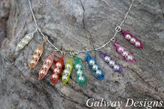 NEW MultiColored Pea Pods RAINBOW by galwaydesigns on Etsy