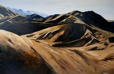 Evening light in the Lindis Pass.Palette knife oil on stretched canvas.Palette x 152 cm Living In New Zealand, Palette Knife, Stretched Canvas, Mount Everest, Paintings, Oil, Mountains, Artist, Travel