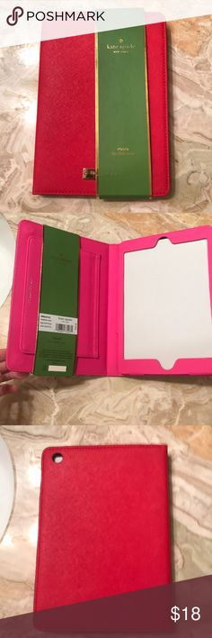 Kate spade iPad mini case Never used iPad mini case. It's red on the outside and pink on the inside! kate spade Other