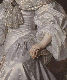 Bartholomeus van der Helst - Portrait of Mary, Princess Royal and Princess of Orange (detail) - 1652,
