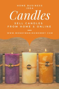 Sell Candles From Home & Online! Companies to Help You Get Started! Sell Candles From Home & Online! Companies to Help You Get Started! Ways To Earn Money, Earn Money From Home, Craft Business, Start Up Business, Business Advice, Online Business, Diy Candles, Pillar Candles, Candels