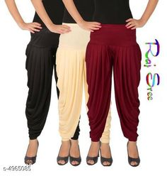 Ethnic Bottomwear - Patiala Pants  Cotton Viscose Attractive Women's Patiala Pants Combo Fabric: Cotton Viscose Size: XL - 34 in  XXL - 36 in  Length: Up To 40 in Type: Stitched Description: It Has 3 Pieces Of Women's Patiala Pants Pattern: Solid Country of Origin: India Sizes Available: XL, XXL, XXXL, 4XL, 5XL   Catalog Rating: ★4 (288)  Catalog Name: Stylish Cotton Viscose Attractive Women's Patiala Pants Combo Vol 12 With CatalogID_727579 C74-SC1018 Code: 284-4965085-3321