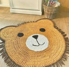 DIY crochet projects, crochet home decor ideas, cr Crochet Diy, Crochet Home Decor, Crochet Bear, Crochet For Kids, Crochet Animals, Crochet Dolls, Crochet Rugs, Crochet Mignon, Animal Rug