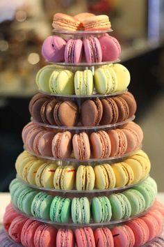 I've just found 10 Tier French Macaron Tower. Wow your guests with a French Macaron Tower! Our tower holds 238 French Macarons. French Macarons Recipe, French Macaroons, Buffet Dessert, Alternative Wedding Cakes, Macaron Tower, How To Make Macarons, French Patisserie, French Bakery, Gel Food Coloring