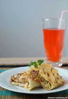 nalesniki-z-brokulami-szynka-i-serem1 Tacos, Meat, Chicken, Pierogi, Ethnic Recipes, Food, Beef, Meal, Essen