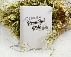 Life is beautiful ride passport holder faux by WanderlustCover