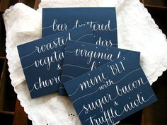 WEDDING CALLIGRAPHY SIGNS Food or Drink by LetterBeOnEtsy on Etsy