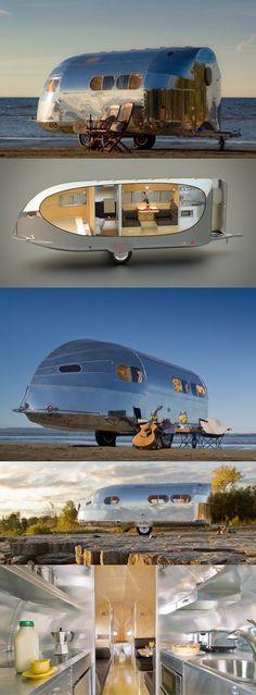 ♂ Bowlus Road Chief updates 1930s classic caravan