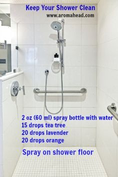 A great aromatic recipe for cleaning your shower...naturally!