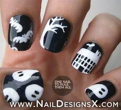 halloween nails » Nail Designs & Nail Art