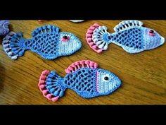 Balık Örgü – Fish Knitting -How To Make Crochet Fish (You can use the subtitle app) - Strickanleitungen & Strickmuster 2020 Crochet Bow Pattern, Crochet Ruffle, Chunky Crochet, Freeform Crochet, Crochet Motif, Irish Crochet, Crochet Flowers, Crochet Hair, Lace