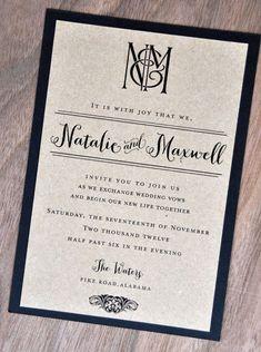 baby shower :: Kraft Kraze Wedding Invitations #weddinginvitation