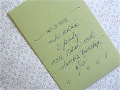 Loe the long-ways envelope ... CalligraphySophie by kristenhendo on Etsy