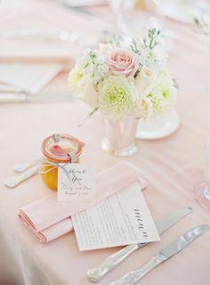 Pink Wedding Linens | photography by http://www.claryphoto.com