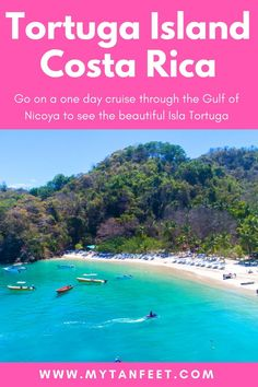 Tortuga Island is a gorgeous island in the Gulf of Nicoya, Costa Rica. Visitors can take a one day tour to cruise through the Gulf and enjoy the beautiful beach. Read more about it and get 10% off the tour here: https://mytanfeet.com/activities/tortuga-island-costa-rica-bay-island-cruises/ Costa RIca | Things to do in Costa Rica | Costa Rica travel blog