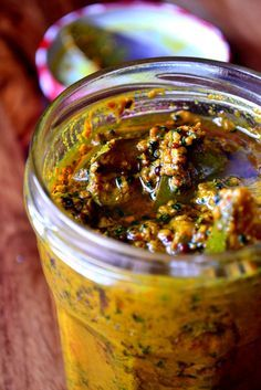 Pickle - a powerful and flavoursome mango pickle and the perfect accompaniment to any curry.Mango Pickle - a powerful and flavoursome mango pickle and the perfect accompaniment to any curry. Indian Food Recipes, Asian Recipes, Healthy Recipes, Spicy Recipes, Chutneys, Pesto, Pickle Mango Recipe, Indian Pickle Recipe, Salsa Guacamole
