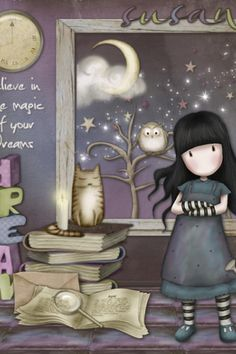 Believe in the Magic of your Dreams (Gorjuss)… Cute Images, Cute Pictures, Doodles, Copics, Cute Illustration, Illustrations, Happy Planner, Cute Drawings, Paper Dolls