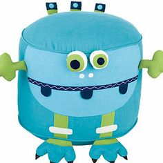 Monster Pouf at The Company Store - Furniture - Kids - One Size Monogram Shop, Free Monogram, Cartoon Expression, The Company Store, Kids Seating, Novelty Items, Kids Pillows, Bedding Shop, Outdoor Cushions