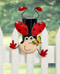 Add a colorful accent to your yard with a Whimsical Fence Topper. It sits on top of most fences. Fits 2 sizes of fence--metal chain link fences with round posts and wood fences with narrow wood planks