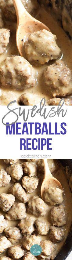 Zweedse Gehaktballetjes Recept - Zweedse Gehaktballetjes maken een heerlijk gerecht geserveerd als een voorgerecht of als hoofdgerecht.  Dit familie recept is van nuuts af gemaakt en is een favoriet!  // addapinch.com