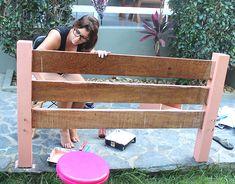 Como pintar um móvel de madeira e a minha mesinha nova