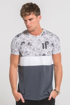 11 Degrees Grey Scale Vintage Floral Triple Panel - Grey - 11 Degrees from Urban Celebrity UK