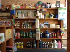 The paint wall! Great paint products for those days when you're stuck inside.