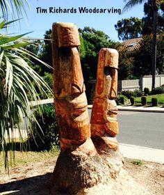 Matching Moai's in Solana Beach, California.