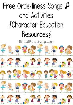 Free orderliness songs plus lots of Montessori-inspired activities for preparing a unit study focusing on the character trait of orderliness - Bits of Positivity Teaching Character Traits, Positive Character Traits, Character Education Lessons, Physical Education, Character Counts, Health Education, Growth Mindset Lessons, Elementary Counseling, Career Counseling