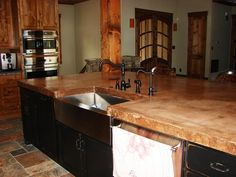 Custom Kitchen Cabinetry - Lenova Stainless Steel Farmhouse Sink with Danze Opulence Satin Black Faucet!