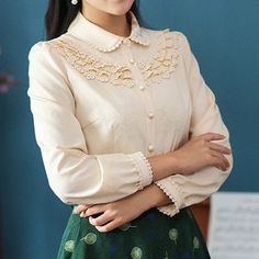 Buy 'GU ZHI – Long-Sleeve Paneled Embroidered Blouse' with Free International Shipping at YesStyle.com. Browse and shop for thousands of Asian fashion items from China and more!