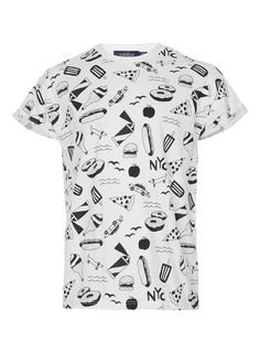 White New York City High Roll T-Shirt - Men's T-shirts - Clothing - TOPMAN USA