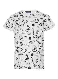 White New York City High Roll T-Shirt - Men's T-shirts - Clothing - TOPMAN USA