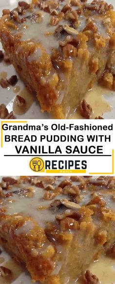 Grandma's Old-Fashioned Bread Pudding with Vanilla Sauce – Daily Recipes Omas altmodischer Brotpudding mit Vanillesauce – Tägliche Rezepte – Homemade Focaccia Bread, Focaccia Bread Recipe, Bread Recipes, Cake Recipes, Dessert Recipes, Cooking Recipes, Breakfast Recipes, Sweet Bread Meat, Old Fashioned Bread Pudding