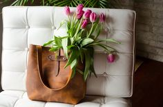 Leather Tote Handbag, Brown Distressed Copper Oil Tanned Leather Purse by MargaretVera on Etsy https://www.etsy.com/listing/223299902/leather-tote-handbag-brown-distressed