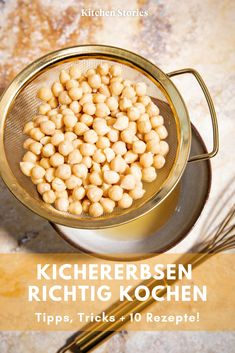 Mit Kichererbsen kochen We show you how you do really soak, cook and keep and tell you important and such as, whether the preferably dried or canned Best Protein Shakes, Protein Shake Recipes, Protein Snacks, Chana Masala, Vegetable Protein, Kitchen Stories, Veggie Recipes, Broccoli, Food And Drink
