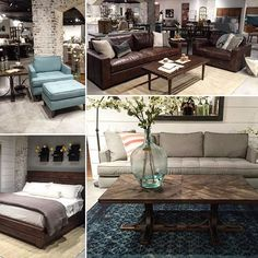 These pieces are from the traditional and modern collections- classic and clean lines #magnoliahomefurniture #mixitup