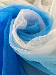 Pink Tulle, Tulle Fabric, Tulle Lace, Beaded Lace, Tulle Tutu, Ombre Color, Gradient Color, White Lace, Blue And White