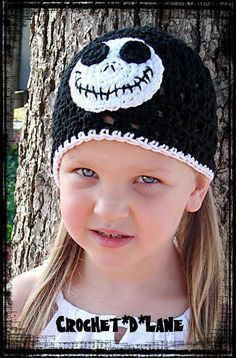 Boutique Jack Skellington Crochet Halloween Hat by Crochetdlane, $20.00