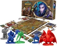 """World of Warcraft: the board game -- """"Based on the multiplayer online role playing game. Adventure across Lordaeron, vanquish monsters, gain experience and power, & earn honor for your faction - whether Horde or Alliance..."""""""