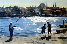 Fishing__golden_horn_istanbul by Tim Wilmot
