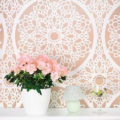 Cutting Edge Stencils - Charlotte Allover Stencil Pattern  www.cuttingedgestencils.com