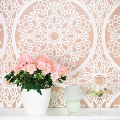Cutting Edge Stencils - Charlotte Allover Stencil Pattern $59.95