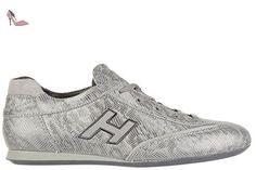 Hogan chaussures baskets sneakers femme en cuir olympia h flock argent EU 39.5 HXW057016877YMB606 - Chaussures hogan (*Partner-Link)