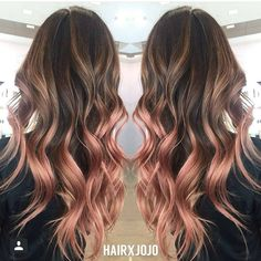 Rose gold balayage