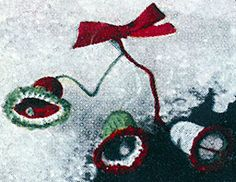 Ravelry: Green, White and Red Bells Ornament pattern by American Thread Company