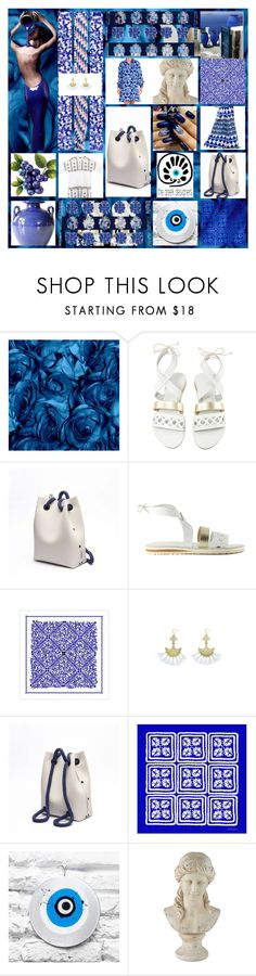 """""""GRECIAN CHIC BACKPACK"""" by cinpet ❤ liked on Polyvore featuring Gaia, Mary Katrantzou, MATÌ, Universal Lighting and Decor, more, backpack, thegreekdesigners and greekbackpack"""