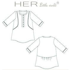 HER Little world, Patron de couture pour vêtement enfant, robe Evidente