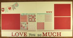 stampin up scrapbook layouts   More Amore Scrapbook Pages- Stampin Up!   Scrapbooking, etc.